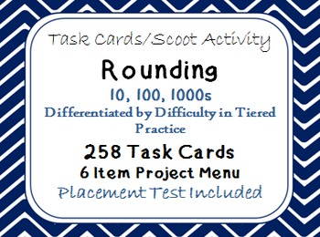 Rounding Task Cards Differentiated by Difficulty in Tiered