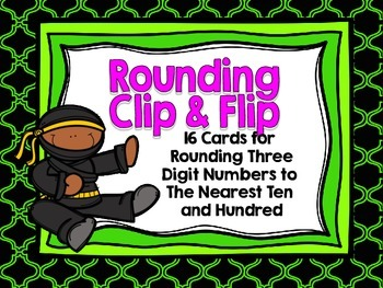 Rounding Through Hundreds Clip and Flip