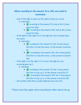 Rounding Tips (Word Document)