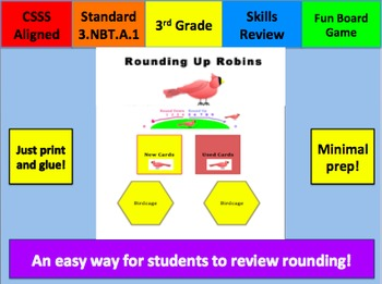 Rounding Up Robins Game: Round to the Nearest Hundreds Place