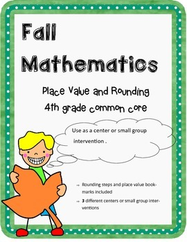 Rounding and Place Value Centers and Book Marks