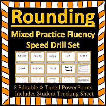 Editable Rounding Fluency - 2 PowerPoints