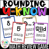 Rounding U-Know Game: Whole Numbers and Decimals for Math