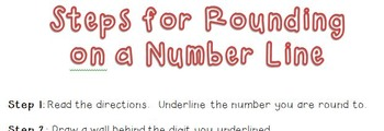 Rounding on a Number Line: Step-by-Step Handout