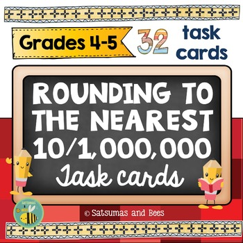 Rounding task cards -4th grade- {Common Core-4.NBT.3}