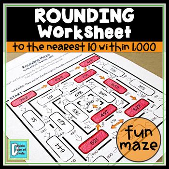 Rounding to 10 within 1000 Maze