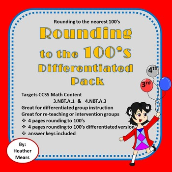 Rounding to 100's Differentiated Pack - Great for Interven