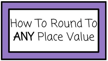 Rounding to ANY Place Value: A simple trick!