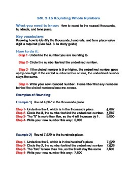 Rounding to Tens, Hundreds, and Thousands Study Guide