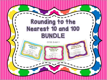 Rounding to the Nearest 10 and 100 Task Cards and Practice