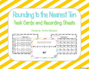 Rounding to the Nearest Ten:  Task Cards & Answer Sheets