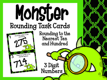 Rounding to the Nearest Ten and Hundred Task Cards- Three Digits