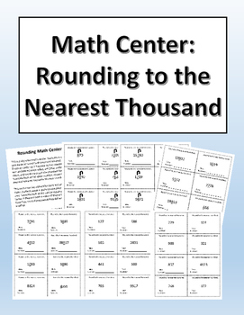 Rounding to the Nearest Thousand Math Center