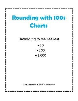 Rounding with Hundreds Charts FREEBIE