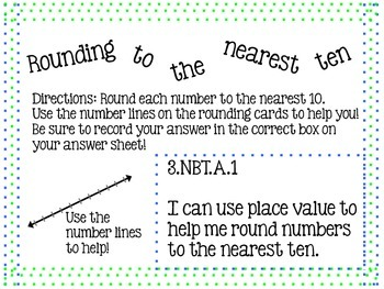 Rounding with Number Lines