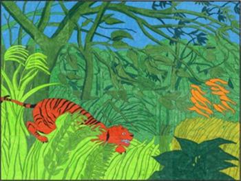 Rousseau Tiger Mural