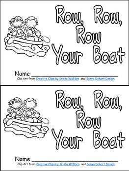 Row, Row, Row Your Boat Book, Poster, & MORE-  Kindergarte