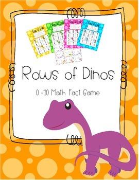 Rows of Dinos - 0-10 Math Fact Game