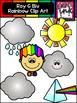 Roy G Biv Rainbow Clipart