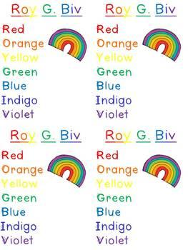 Roy G. Biv Rainbow Craftivity {FREEBIE}