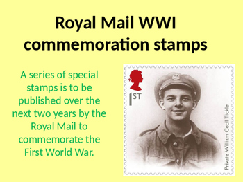 Royal Mail World War One Commemoration Stamps Activity