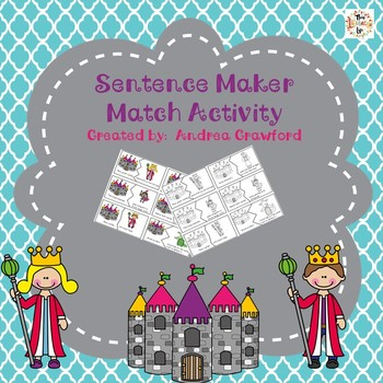Royal Sentence Match:  Subject/Predicate Puzzles