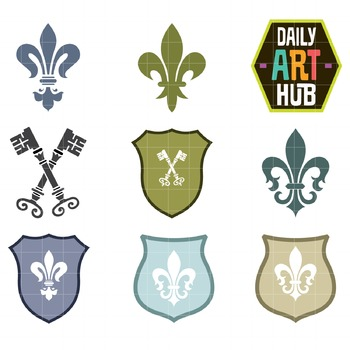 Royal Symbols Clip Art - Great for Art Class Projects!