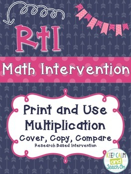 RtI Math Intervention: Cover, Copy, Compare Multiplication