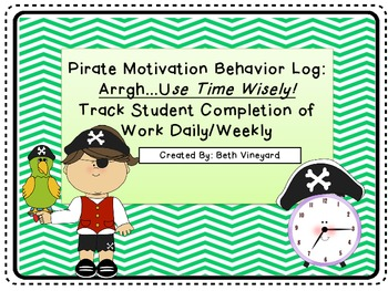 RtI:Pirate Hat Behavior Documentation and Motivation to Co