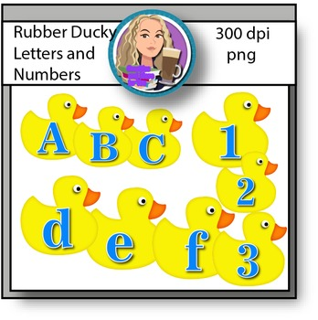 Rubber Ducky Letters and Numbers Clipart