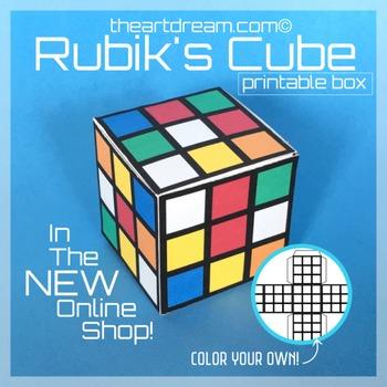 Rubik's Cube Paper Craft