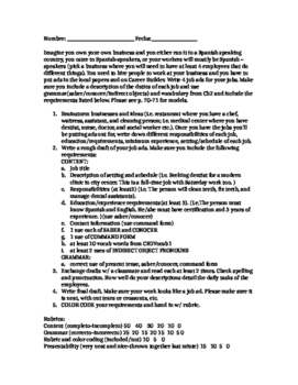 Rubric Classified Ad for Hiring for a Job -Saber Conocer C