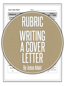 Rubric: Writing A Cover Letter