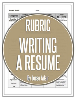 Rubric: Writing A Resume
