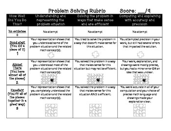 Rubric for Problem Solving