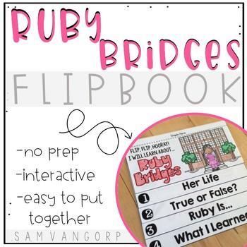 Ruby Bridges Flip Book (NO PREP) PLUS Colored Poster & Stu