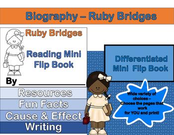 Ruby Bridges - Mini Biography Flip Book (Differentiated Re
