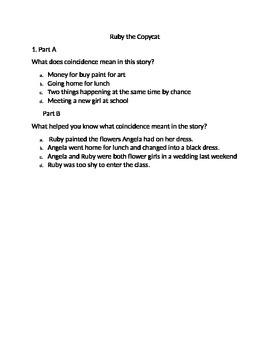 Ruby The CopyCat TEST PARCC Questions (Computer)