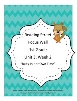 Ruby in Her Own Time Focus Wall Posters 1st Grade Reading