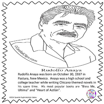 Rudolfo Anaya Coloring Page