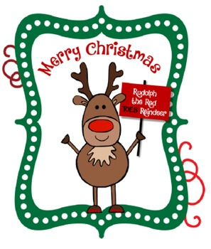 Rudolph Red TOES Reindeer - Red Nail Polish Gift Tag
