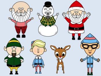 Rudolph and Friends Clip Art Set