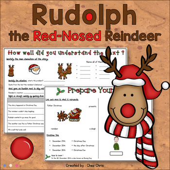 Rudolph, the Red-Nosed Reindeer - Reading activities