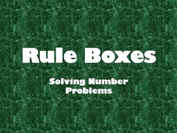 Rule Boxes - Problem Solving PowerPoint (Addition and Subt