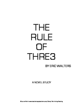 Rule of Three Novel Study