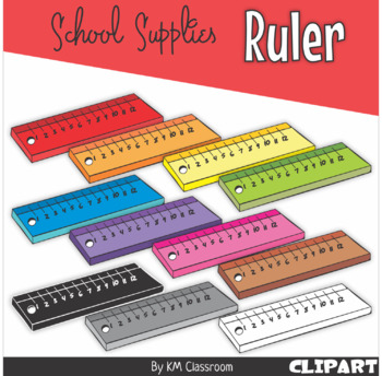 Ruler in Rainbow Colors - Clip Art