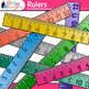 Ruler Clip Art {Rainbow Glitter Back to School Supplies fo