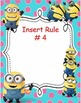 Rules Poster Templates- Minion Themed! Editable for Your C