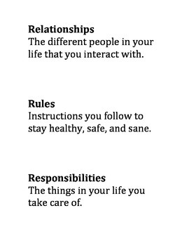 Rules, Relationships, Responsibilities - Interactive Lesso