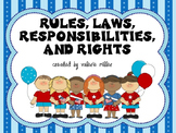 Rules, Laws,Rights, Responsibilities -Common Core Close Re